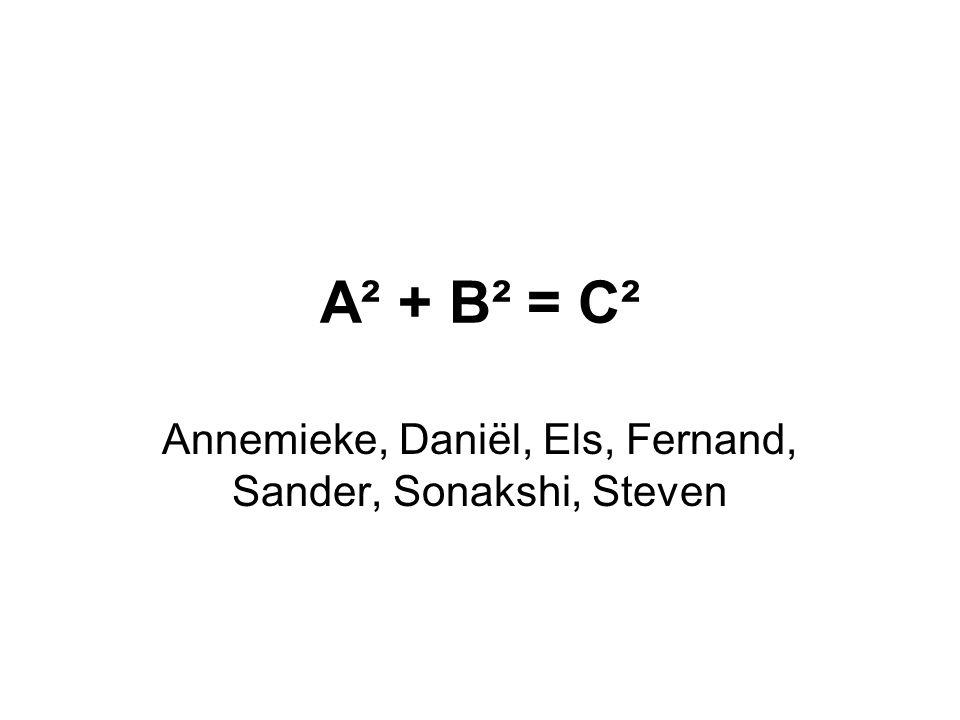 Annemieke, Daniël, Els, Fernand, Sander, Sonakshi, Steven