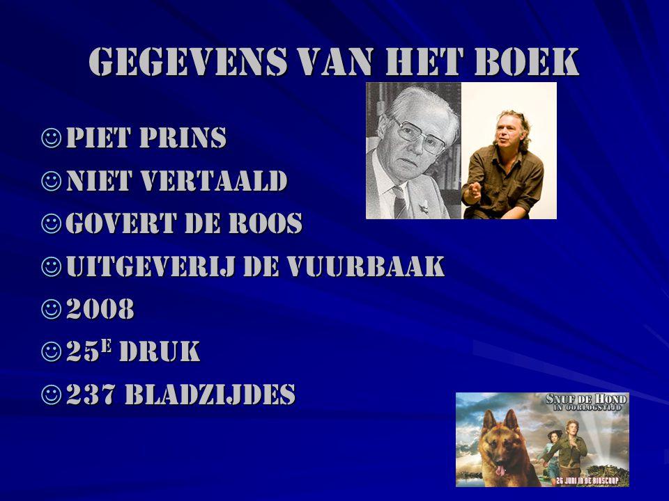 Gegevens van het boek Piet Prins Niet vertaald Govert de Roos