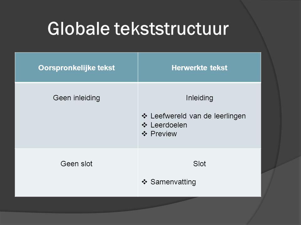 Globale tekststructuur