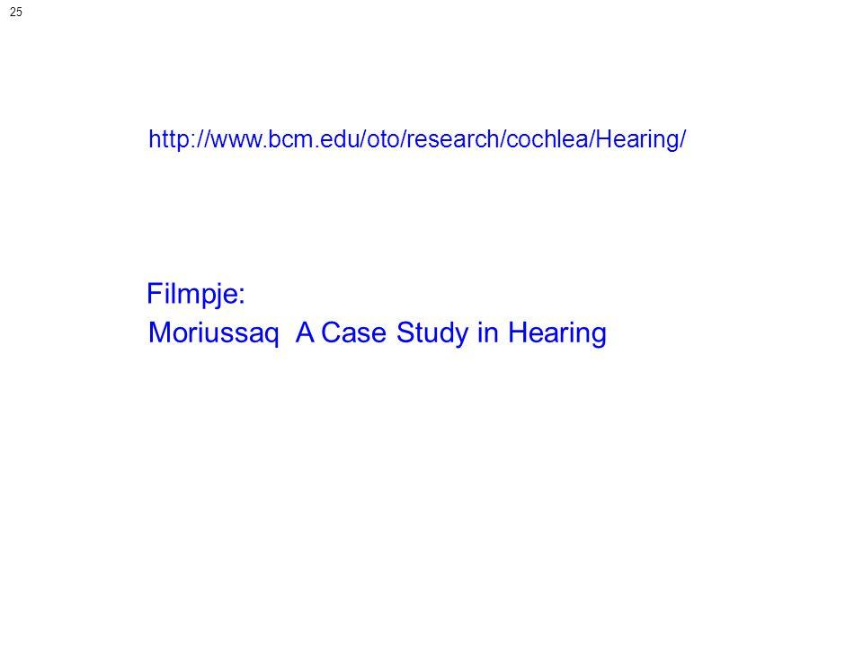 Moriussaq A Case Study in Hearing