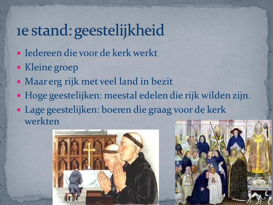 1e stand: geestelijkheid