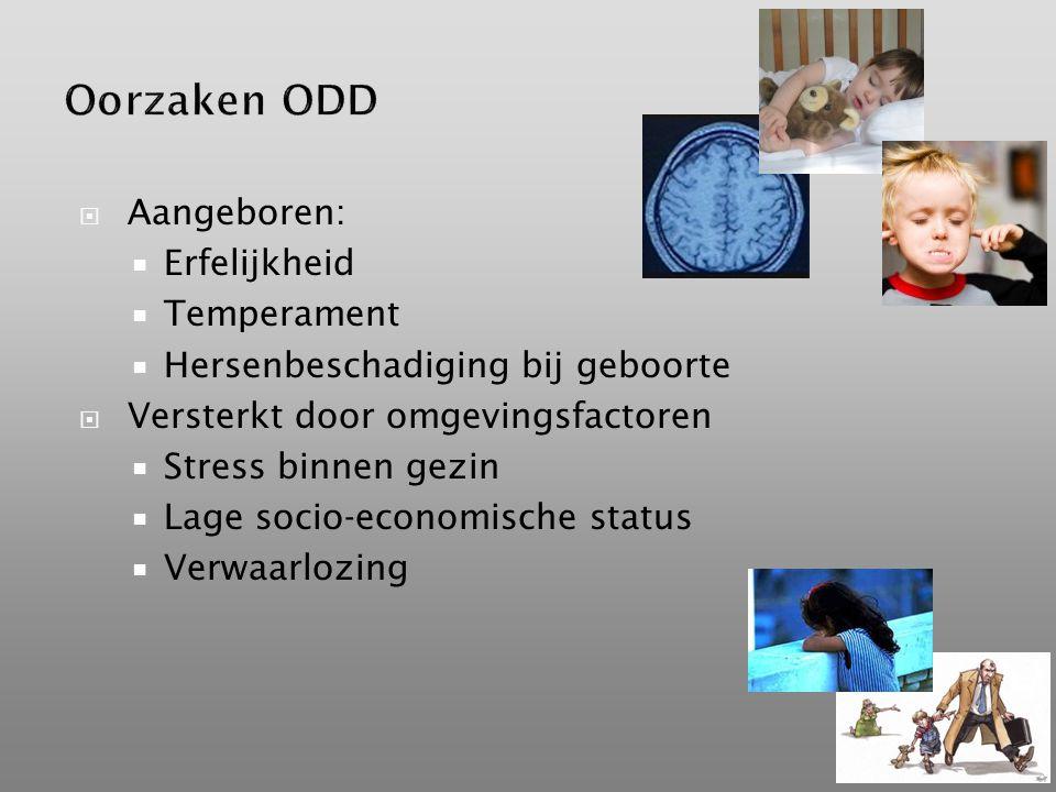 Oorzaken ODD Aangeboren: Erfelijkheid Temperament