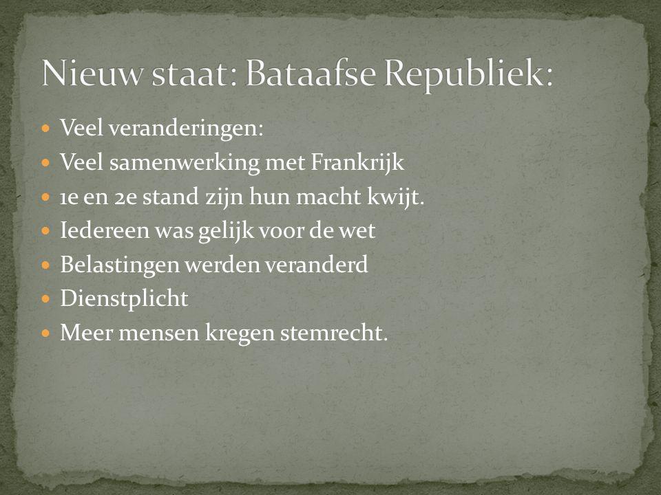 Nieuw staat: Bataafse Republiek: