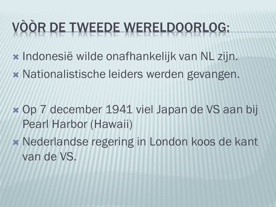 Vòòr de Tweede Wereldoorlog:
