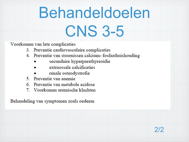 Behandeldoelen CNS 3-5 2/2