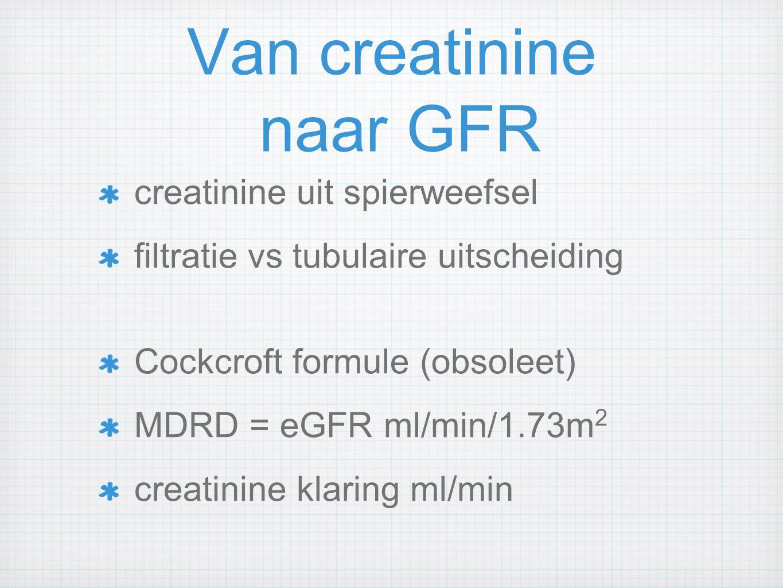 Van creatinine naar GFR