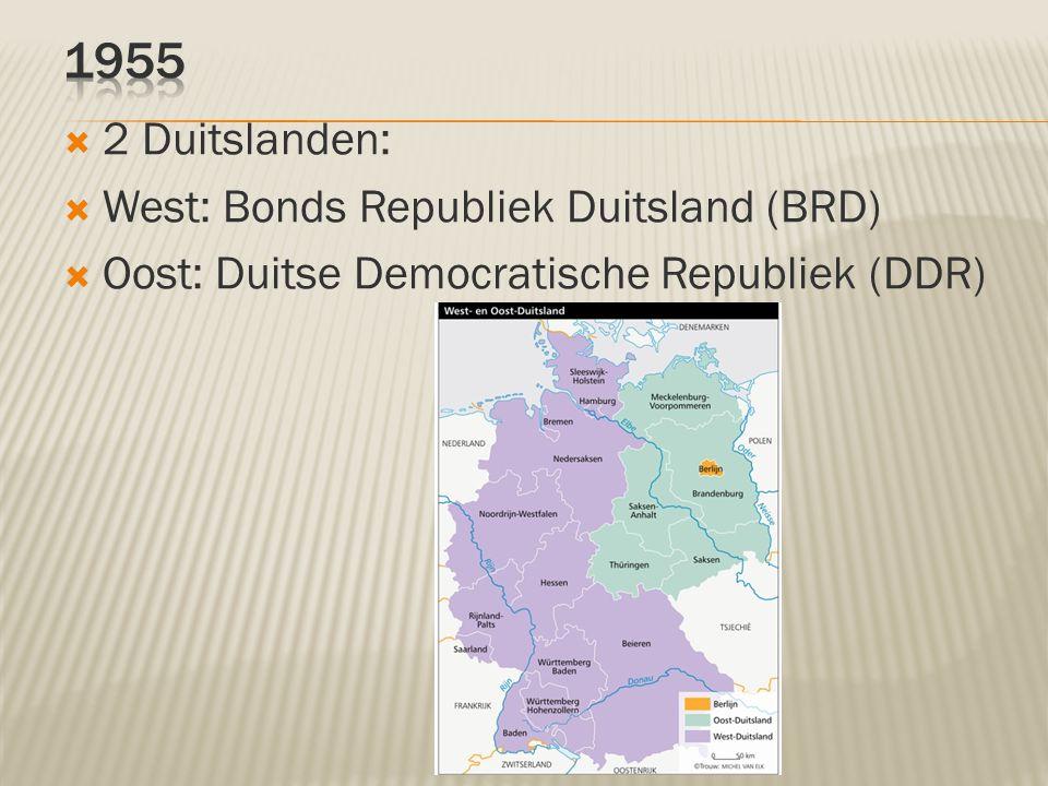 1955 2 Duitslanden: West: Bonds Republiek Duitsland (BRD)