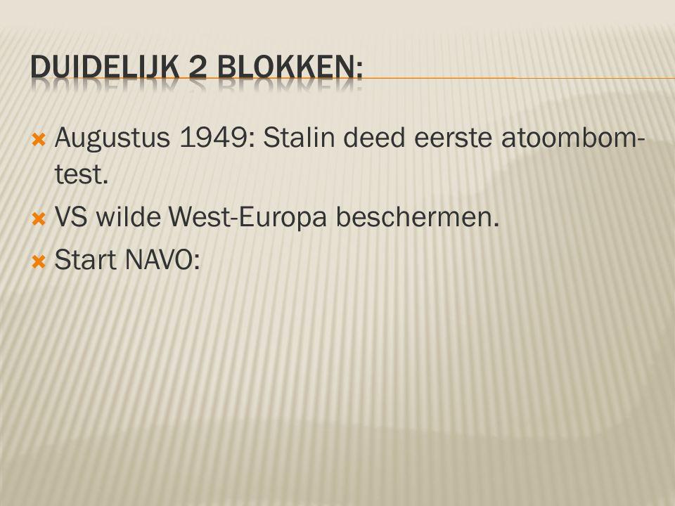 Duidelijk 2 blokken: Augustus 1949: Stalin deed eerste atoombom-test.