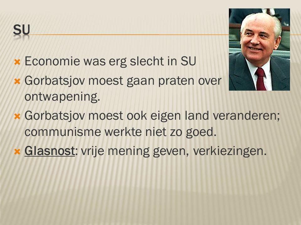 SU Economie was erg slecht in SU