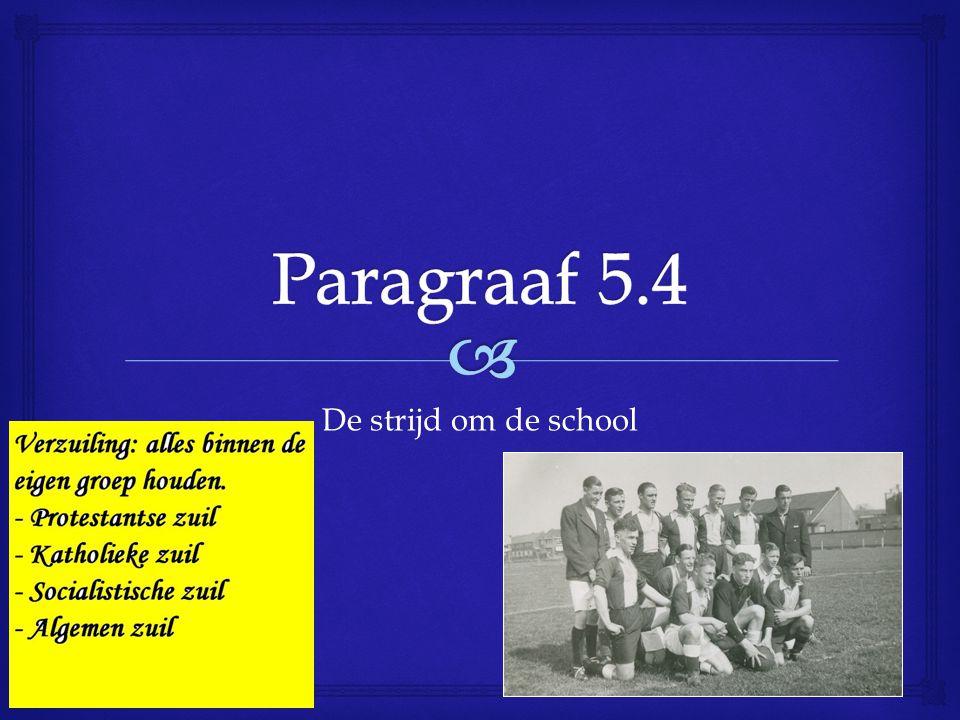 Paragraaf 5.4 De strijd om de school