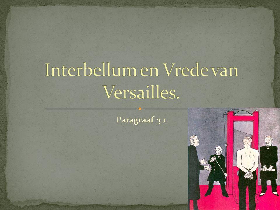 Interbellum en Vrede van Versailles.