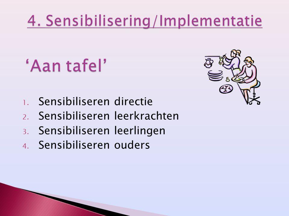 4. Sensibilisering/Implementatie