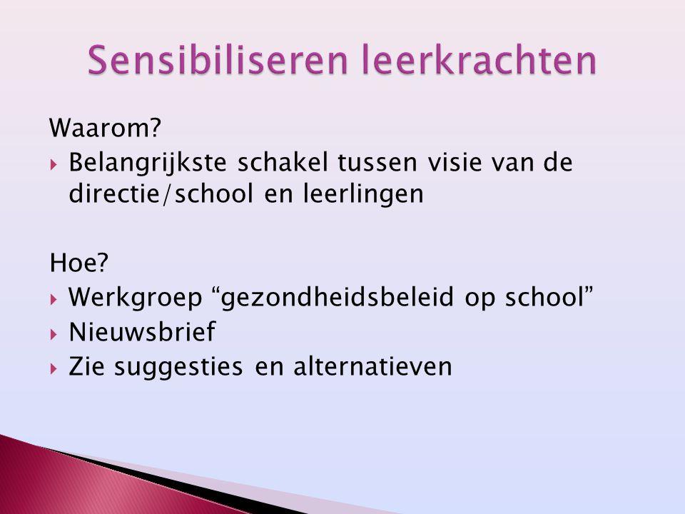 Sensibiliseren leerkrachten