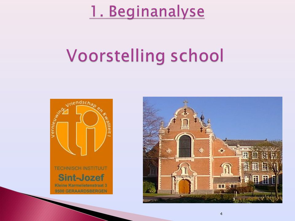 1. Beginanalyse Voorstelling school