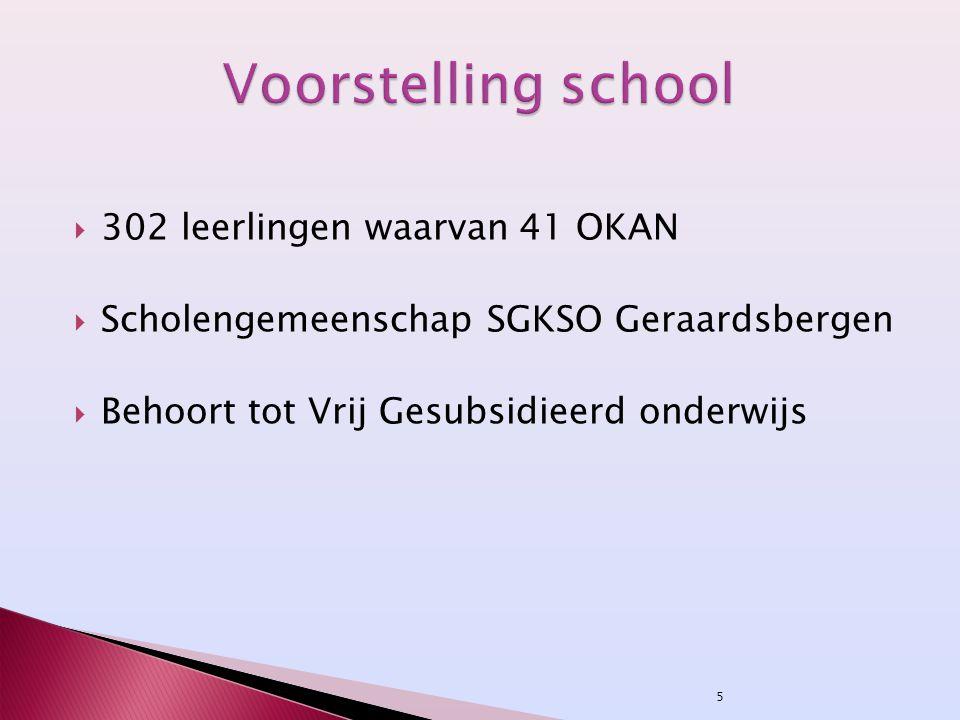 Voorstelling school 302 leerlingen waarvan 41 OKAN