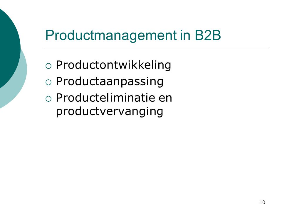 Productmanagement in B2B