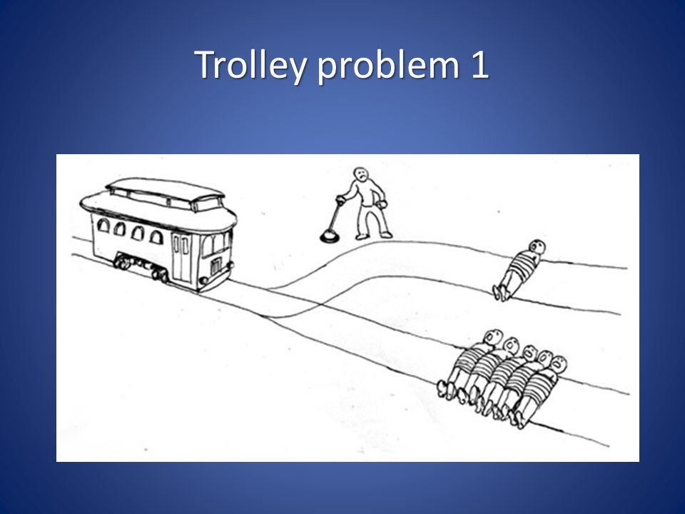 Trolley problem 1 Variant: wat nu als de ene persoon een goede vriend is