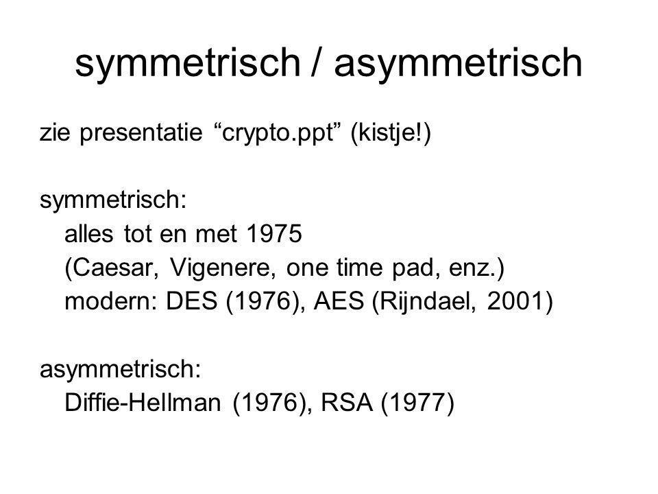symmetrisch / asymmetrisch