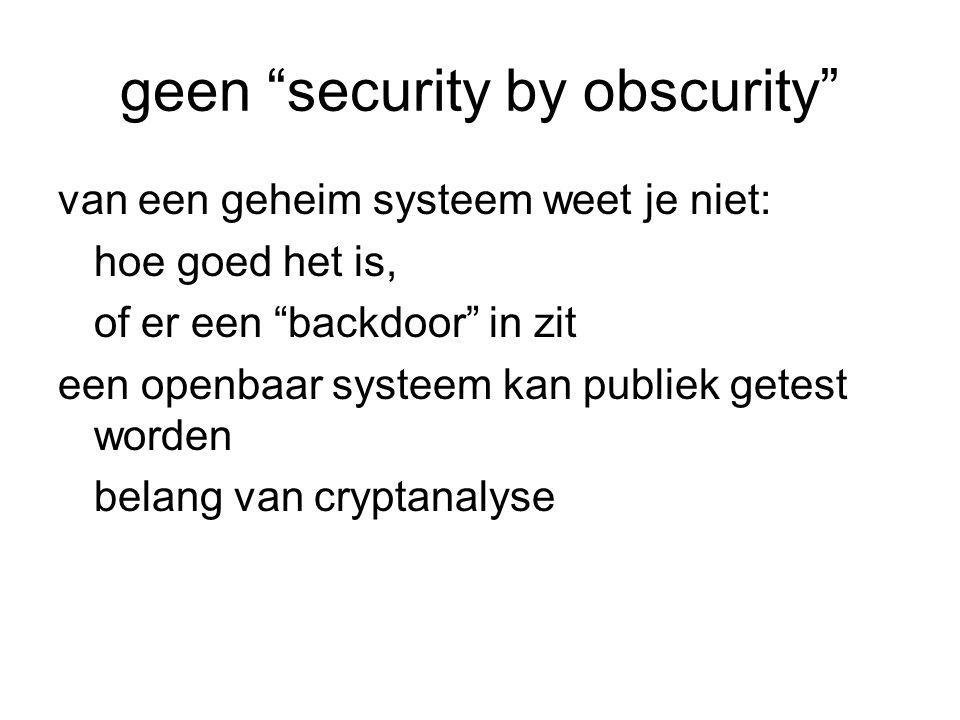 geen security by obscurity