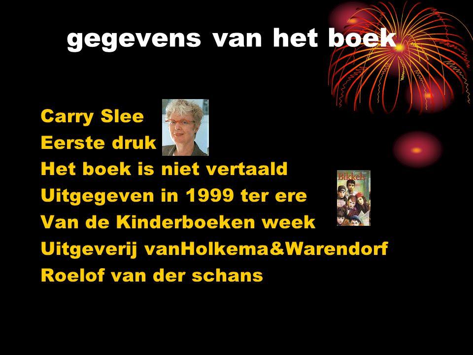 gegevens van het boek Carry Slee Eerste druk Het boek is niet vertaald