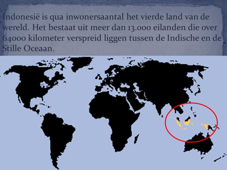 Indonesië is qua inwonersaantal het vierde land van de wereld