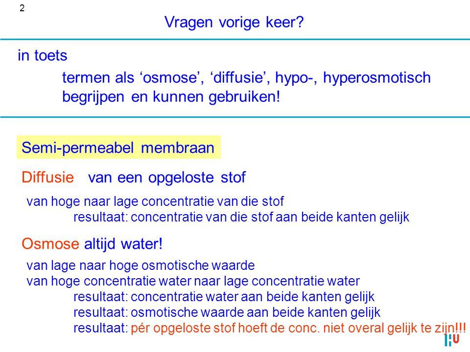 termen als 'osmose', 'diffusie', hypo-, hyperosmotisch