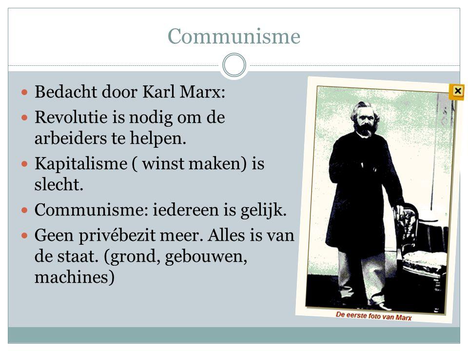 Communisme Bedacht door Karl Marx: