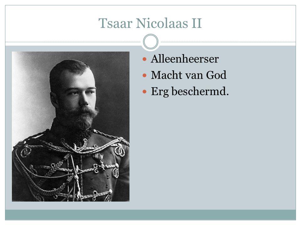 Tsaar Nicolaas II Alleenheerser Macht van God Erg beschermd.