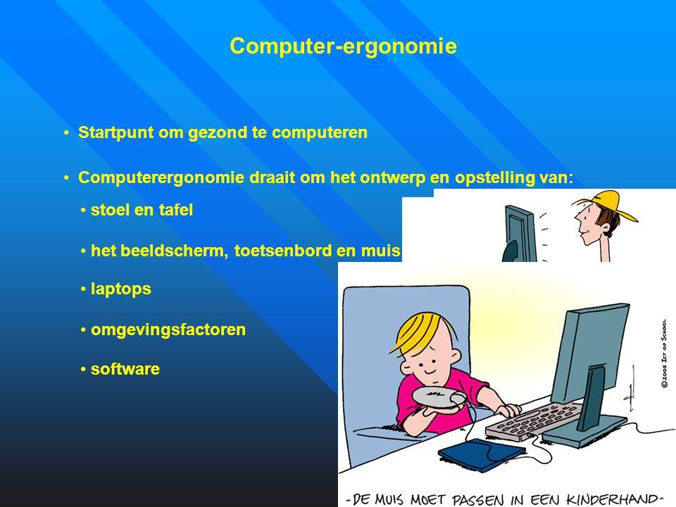 Computer-ergonomie Startpunt om gezond te computeren