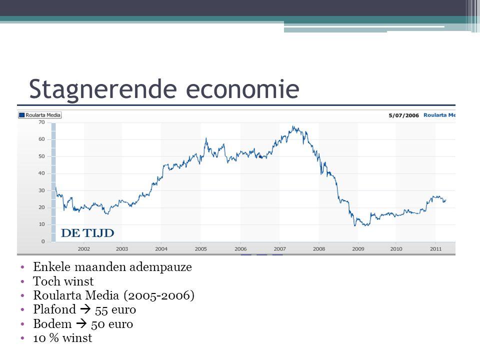 Stagnerende economie Enkele maanden adempauze Toch winst