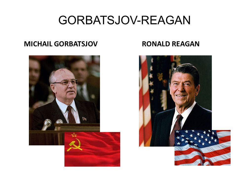 GORBATSJOV-REAGAN MICHAIL GORBATSJOV RONALD REAGAN