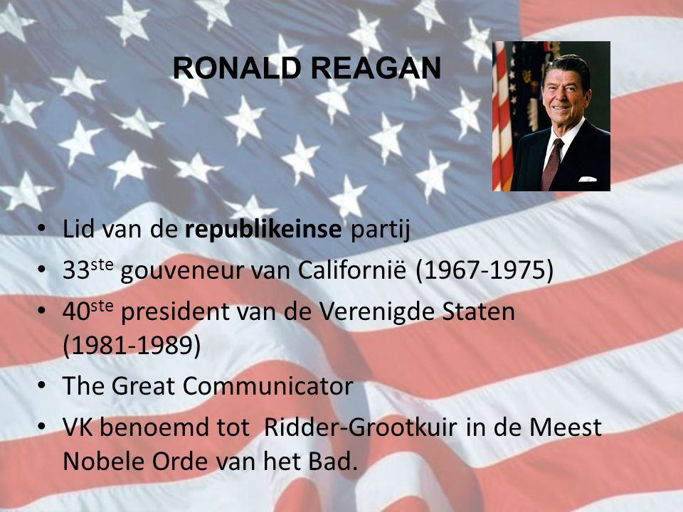 RONALD REAGAN Lid van de republikeinse partij