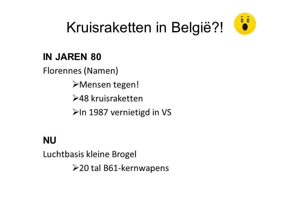 Kruisraketten in België !
