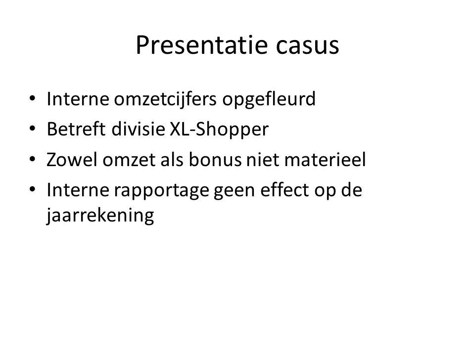 Presentatie casus Interne omzetcijfers opgefleurd