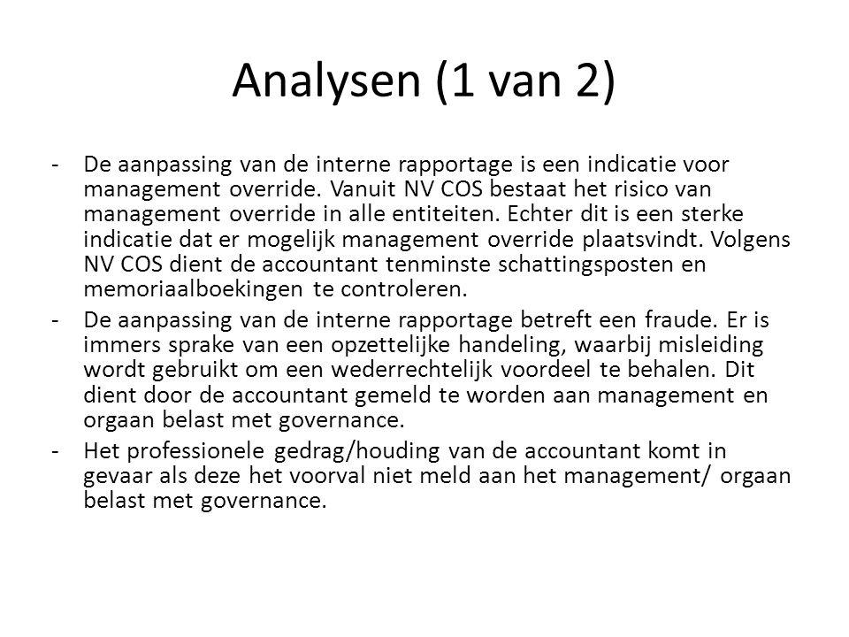 Analysen (1 van 2)