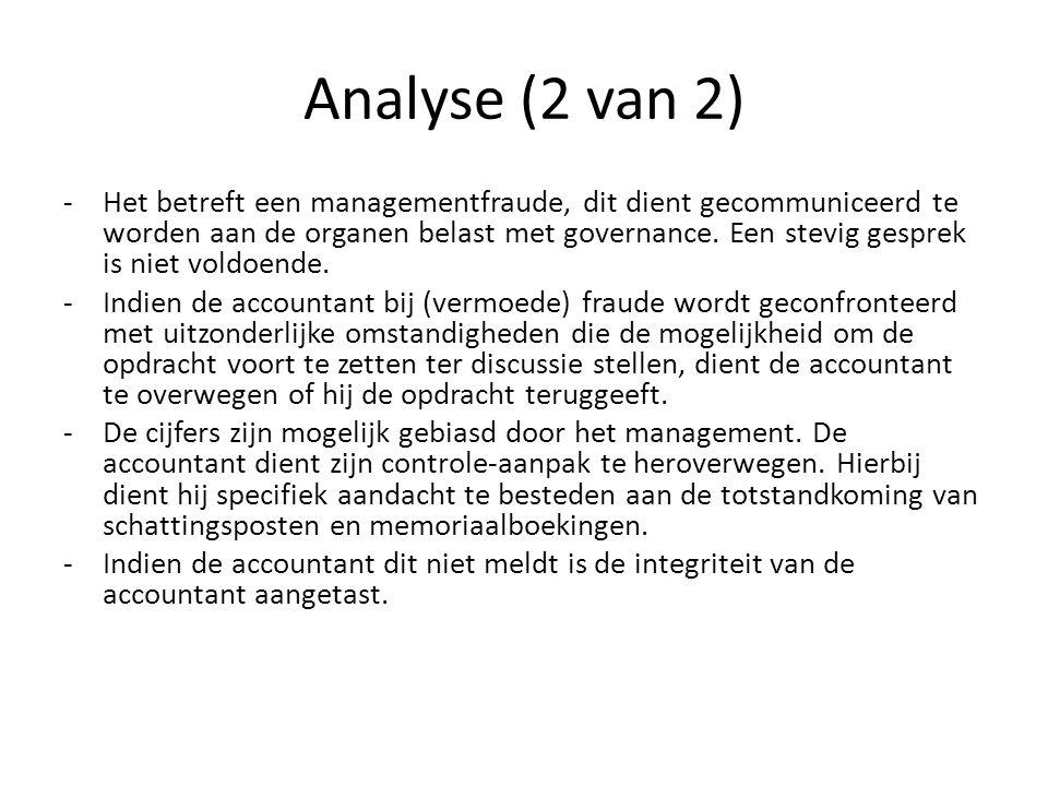 Analyse (2 van 2)