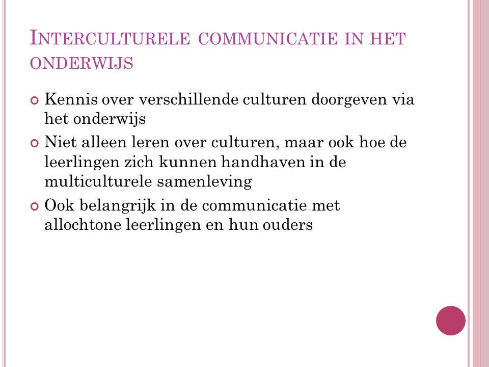 Interculturele communicatie in het onderwijs