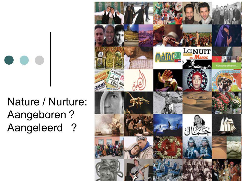 Nature / Nurture: Aangeboren Aangeleerd