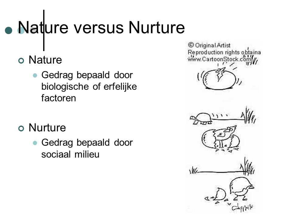 Nature versus Nurture Nature Nurture
