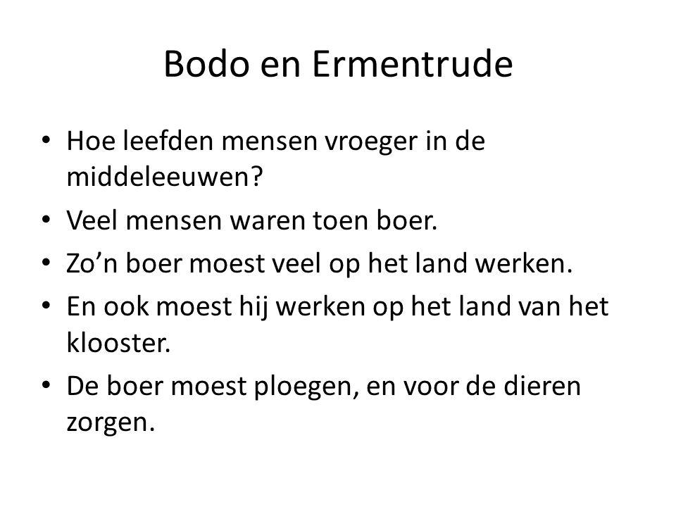 Bodo en Ermentrude Hoe leefden mensen vroeger in de middeleeuwen