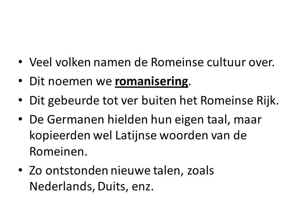 Veel volken namen de Romeinse cultuur over.