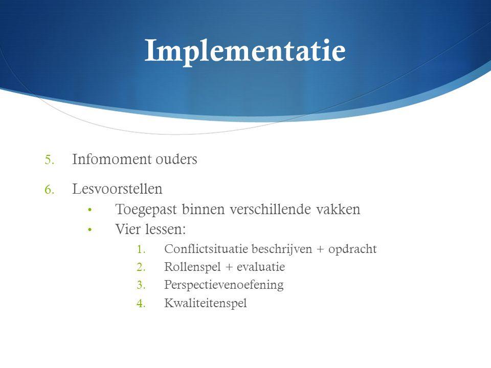 Implementatie Infomoment ouders Lesvoorstellen