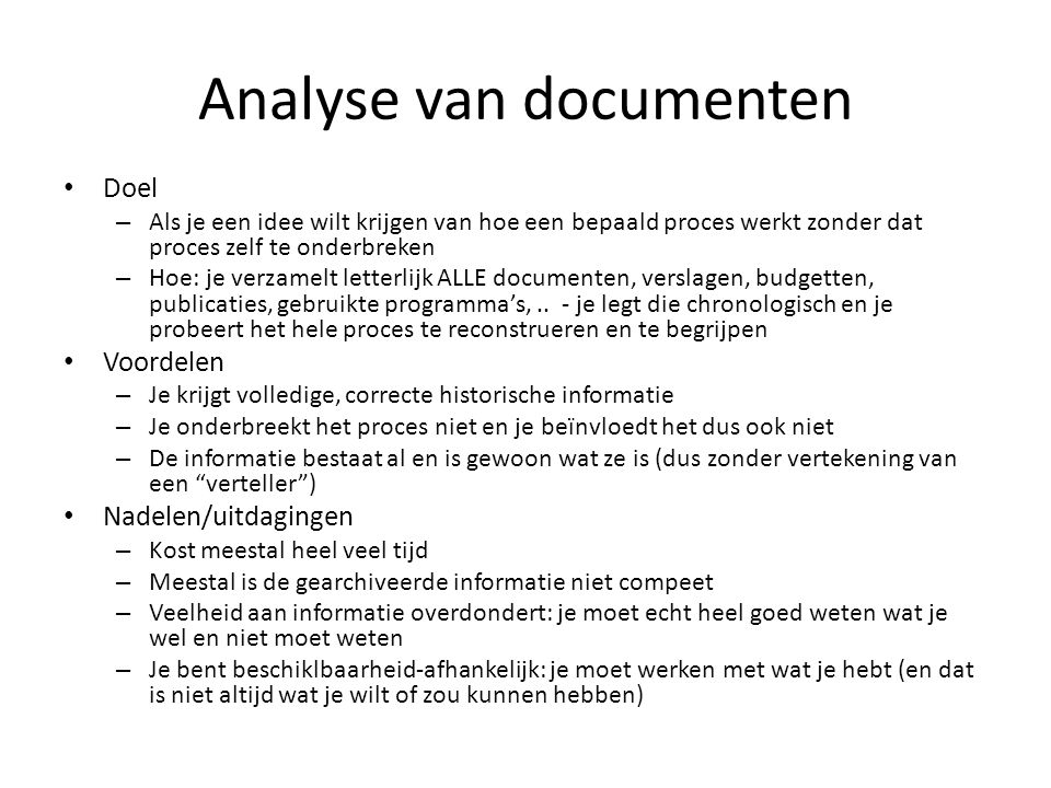 Analyse van documenten