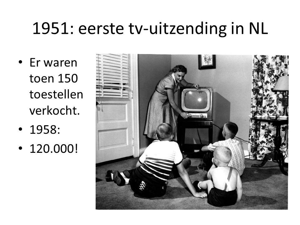 1951: eerste tv-uitzending in NL