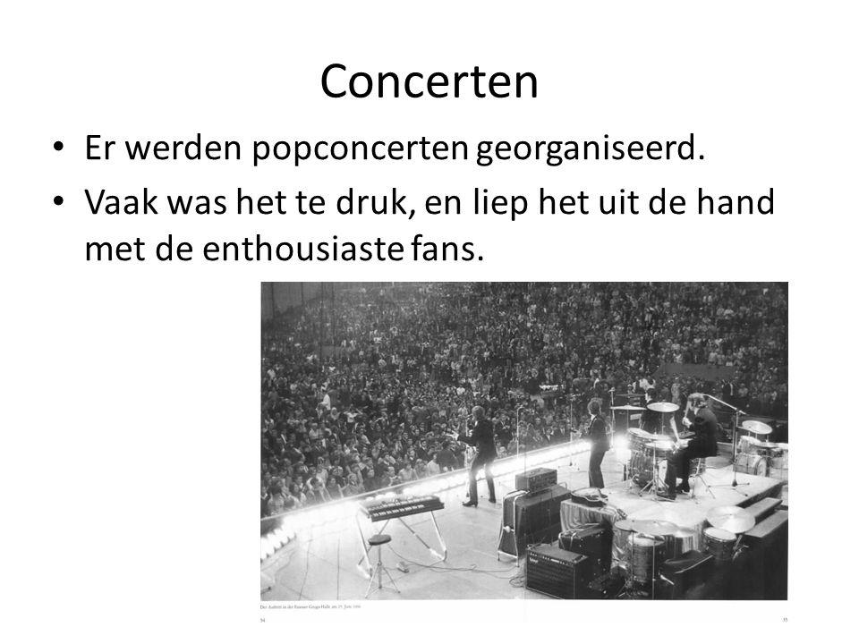 Concerten Er werden popconcerten georganiseerd.