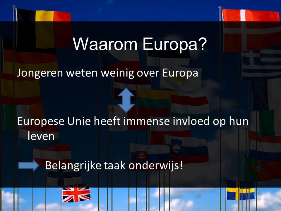 Waarom Europa Jongeren weten weinig over Europa