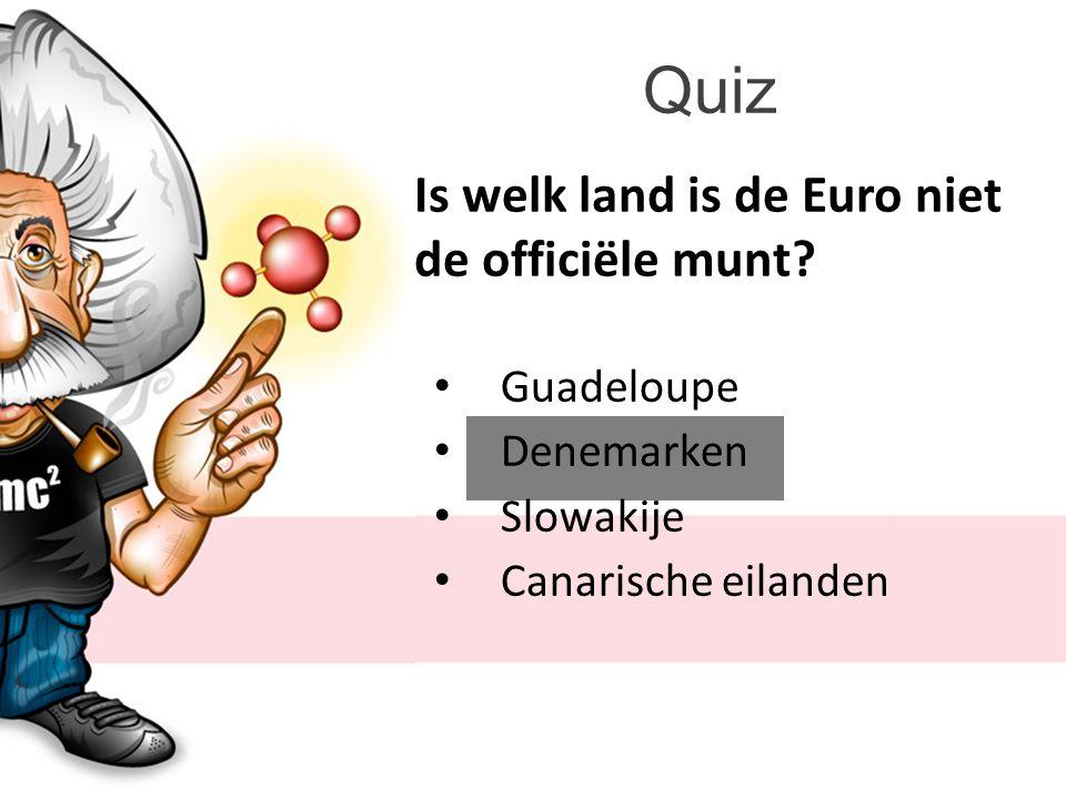 Quiz Is welk land is de Euro niet de officiële munt Guadeloupe