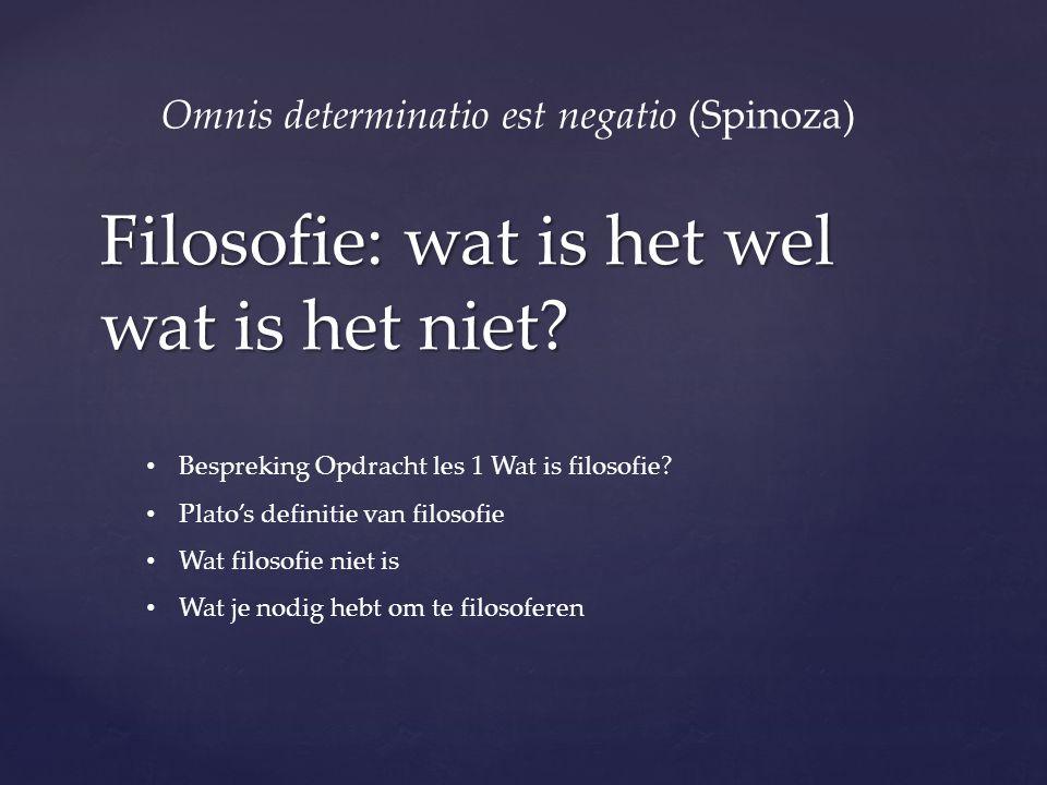 Filosofie: wat is het wel wat is het niet