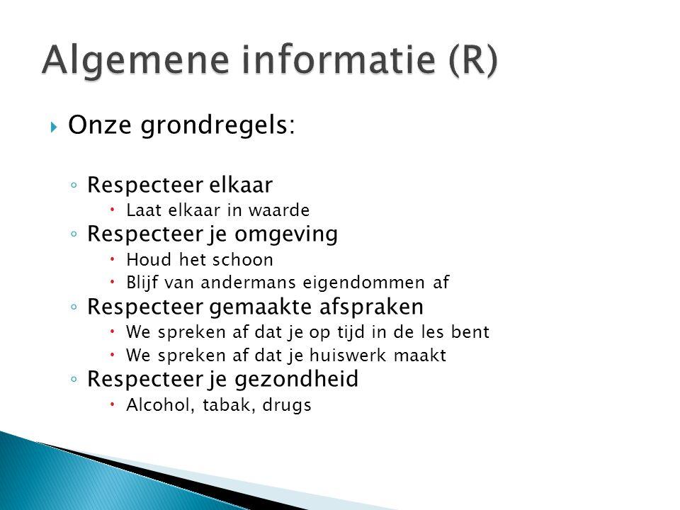 Algemene informatie (R)