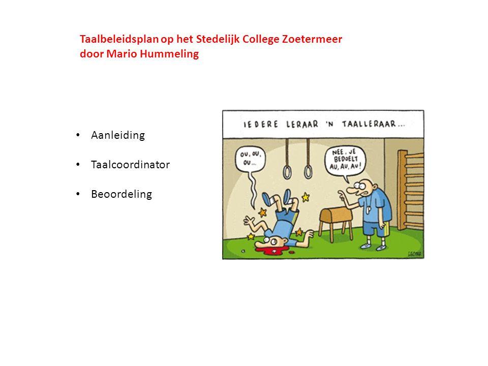 Taalbeleidsplan op het Stedelijk College Zoetermeer